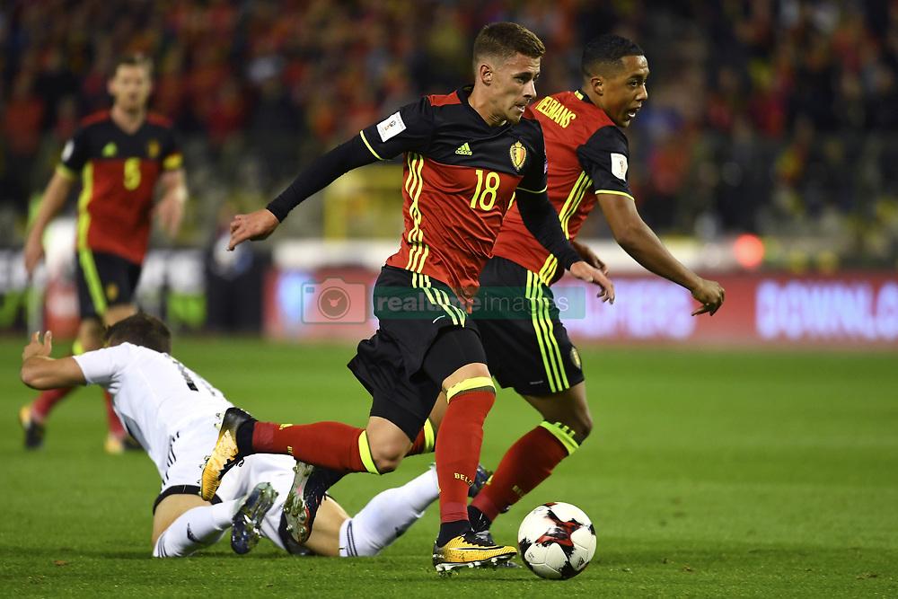 October 10, 2017 - Bruxelles, Belgique - Thorgan Hazard midfielder of Belgium (Credit Image: © Panoramic via ZUMA Press)