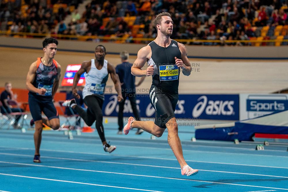 Joris van Gool in action on the 60 meter during the Dutch Indoor Athletics Championship on February 22, 2020 in Omnisport De Voorwaarts, Apeldoorn