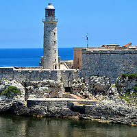 El Morro Fortress Lighthouse in Havana, Cuba<br />
