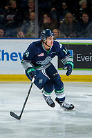 KELOWNA, BC - JANUARY 30: Tyler Carpendale #14 of the Seattle Thunderbirds skates against the Kelowna Rockets at Prospera Place on January 30, 2019 in Kelowna, Canada. (Photo by Marissa Baecker/Getty Images)