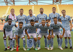 July 18, 2018 - Houston, TX, U.S. - HOUSTON, TX - JULY 18:  Sporting KC starting players for group photo during the US Open Cup Quarterfinal soccer match between Sporting KC and Houston Dynamo on July 18, 2018 at BBVA Compass Stadium in Houston, Texas. (Photo by Leslie Plaza Johnson/Icon Sportswire) (Credit Image: © Leslie Plaza Johnson/Icon SMI via ZUMA Press)