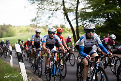 Anastasiya Kolesava (BLR) of UCI WCC Team climbs the first categorised climb of Stage 2 of 2019 Festival Elsy Jacobs, a 111.1 km road race starting and finishing in Garnich, Luxembourg on May 12, 2019. Photo by Balint Hamvas/velofocus.com