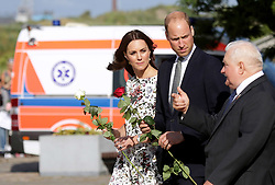 The Duke and Duchess of Cambridge with Lech Walesa in Gdansk, Poland, on July 18, 2017. Photo by Miroslaw Pieslak / newspix.pl/ABACAPRESS.COM