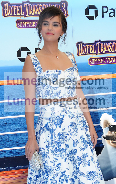 Selena Gomez at the World premiere of 'Hotel Transylvania 3: Summer Vacation' held at the Regency Village Theatre in Westwood, USA on June 30, 2018.