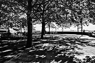 The esplanade at Battery Park City.