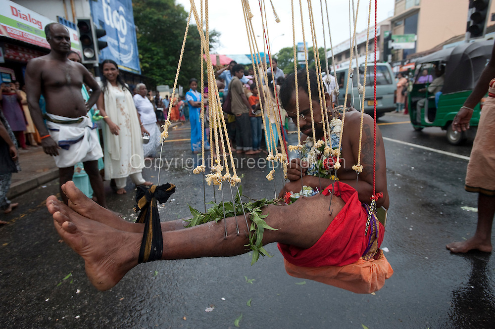 The Hindu Aadi Vel festival on the streets of Bambalapitiya in Colombo.