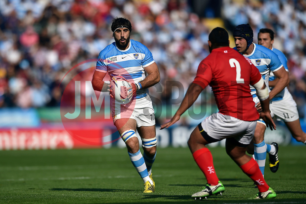 Juan Martin Fernandez Lobbe of Argentina in possession - Mandatory byline: Patrick Khachfe/JMP - 07966 386802 - 04/10/2015 - RUGBY UNION - Leicester City Stadium - Leicester, England - Argentina v Tonga - Rugby World Cup 2015 Pool C.