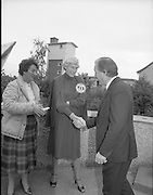 "Charles Haughey Votes in Referendum..1983.07.09.1983.09.07.1983.7th September 1983..Image of Mr Charles Haughey meeting with campaigners on behalf of the ""Yes"" side of the of the campaign for change...The referendum was a constitutional amendment with regard to the life of the unborn...  It was a divisive campaign with much debate, charge and countercharge by both sides of the argument..Those in the Yes campaign won the day with a vote of 841,233 to a no vote of 416,136."