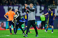 MARIBOR, SLOVENIA - OCTOBER 17: Juergen Klopp, head coach of Liverpool FC celebrates after winning 7-0 during UEFA Champions League 2017/18 group E match between NK Maribor and Liverpool FC at Stadium Ljudski vrt, on October 17, 2017 in Maribor, Slovenia. (Photo by Vid Ponikvar / Sportida)