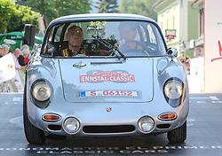 20.07.2017, Gröbming, AUT, Ennstal-Classic 2017, Start Prolog, im Bild Walter Röhrl und Herbert Völker, DE/AT, Porsche 356 B 2000 GS GT Bj. 1963 // during the Ennstal-Classic 2017 in Gröbming, Austria on 2017/07/20. EXPA Pictures © 2017, PhotoCredit: EXPA / Martin Huber