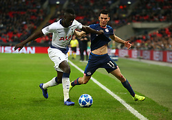 November 6, 2018 - London, England, United Kingdom - London, England - November 06, 2018.Tottenham Hotspur's Davinson Sanchez holds of Hirving Lozano of PSV Eindhoven.during Champion League Group B between Tottenham Hotspur and PSV Eindhoven at Wembley stadium , London, England on 06 Nov 2018. (Credit Image: © Action Foto Sport/NurPhoto via ZUMA Press)