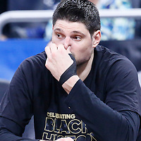 25 February 2017: Orlando Magic center Nikola Vucevic (9) is seen on the bench during the Orlando Magic 105-86 victory over the Atlanta Hawks, at the Amway Center, Orlando, Florida, USA.