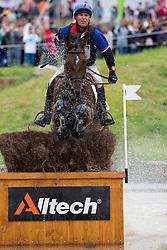 Denis Mesples, (FRA), Oregon de la Vigne - Eventing Cross Country test - Alltech FEI World Equestrian Games™ 2014 - Normandy, France.<br /> © Hippo Foto Team - Leanjo de Koster<br /> 30/08/14