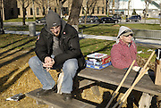 Windsor, Ontario. December 2011. 'Occupy Windsor', Day 58. Last day.