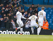 Goal celebration by Leeds United forward Caleb Ekuban during the EFL Sky Bet Championship match between Leeds United and Bolton Wanderers at Elland Road, Leeds, England on 30 March 2018. Picture by Paul Thompson.