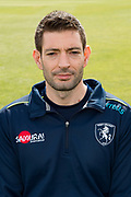Dan George (Physiotherapist) of Kent during the Kent County Cricket Club Headshots 2017 Press Day at the Spitfire Ground, Canterbury, United Kingdom on 31 March 2017. Photo by Martin Cole.