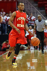 26 November 2016:  Quentin Ruff during an NCAA  mens basketball game between the Ferris State Bulldogs the Illinois State Redbirds in a non-conference game at Redbird Arena, Normal IL