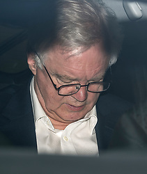 © Licensed to London News Pictures. 09/07/2018. London, UK. Former Brexit Secretary DAVID DAVIS is seen leaving  BBC Broadcasting House in London after resigning over Prime Minister Theresa May's Brexit Plan. Mr Davis was appointed to the post in 2016 and was responsible for negotiating the UK's EU withdrawal. Photo credit: Ben Cawthra/LNP