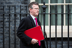 London, UK. 12th February, 2019. Jeremy Wright QC MP, Secretary of State for Digital, Culture, Media and Sport, leaves 10 Downing Street following a Cabinet meeting.
