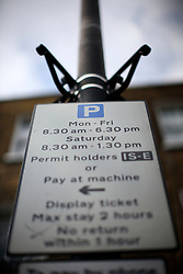 UK ENGLAND LONDON 1MAY12 - Parking meter sign in Islington, North London....jre/Photo by Jiri Rezac....© Jiri Rezac 2012