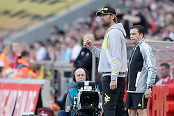 25.03.2012, Rhein Energie Stadion, Koeln, GER, 1. FBL, 1.FC Koeln vs Borussia Dortmund, 27. Spieltag, im Bild Juergen KLOPP (Trainer BVB Borussia Dortmund) mit geballter Faust // during the German Bundesliga Match, 27th Round between 1.FC Koeln and Borussia Dortmund at the Rhein Energie Stadion, Koeln, Germany on 2012/03/25. EXPA Pictures © 2012, PhotoCredit: EXPA/ Eibner/ Gerry Schmit..***** ATTENTION - OUT OF GER *****
