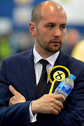 SCOTTISH PARLIAMENTARY ELECTION 2016 &ndash; Ben Macpherson, Scottish National Party (SNP) during the vote Counting at Royal Highland Centre, Edinburgh<br />