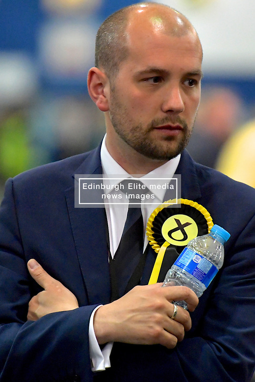 SCOTTISH PARLIAMENTARY ELECTION 2016 – Ben Macpherson, Scottish National Party (SNP) during the vote Counting at Royal Highland Centre, Edinburgh<br />