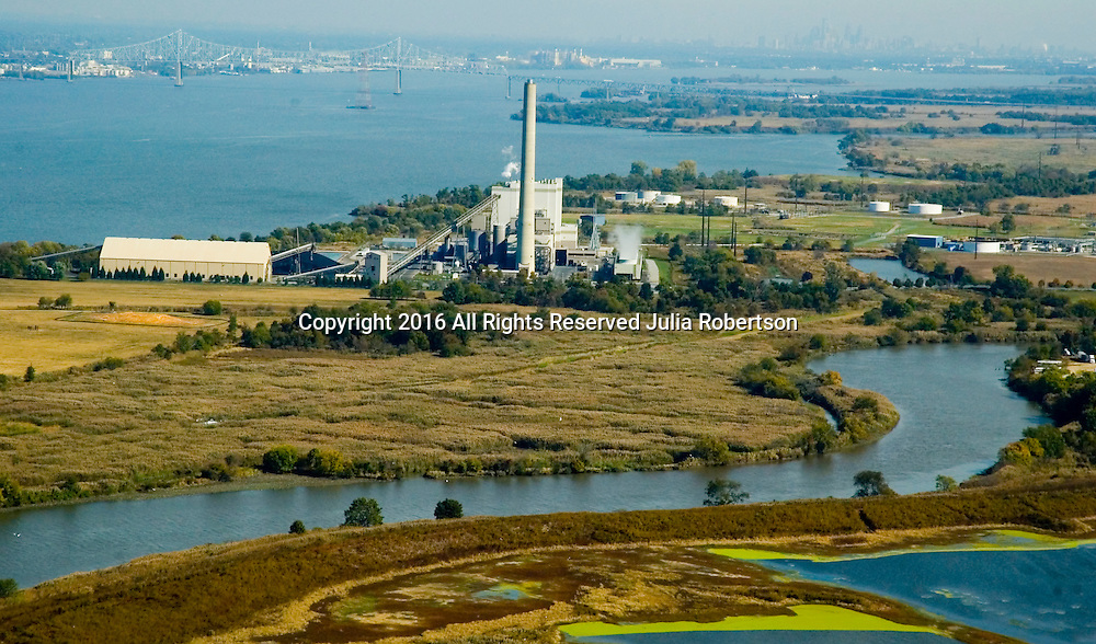 Aerial view of Oyster Creek Nuclear Generating Station