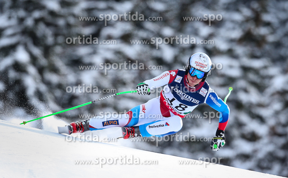 11.02.2013, Planai, Schladming, AUT, FIS Weltmeisterschaften Ski Alpin, Super Kombination, Abfahrt, Herren, im Bild  Carlo Janka (SUI) // Carlo Janka of Switzerland  in action during Mens Super Combined Downhill at the FIS Ski World Championships 2013 at the Planai Course, Schladming, Austria on 2013/02/11. EXPA Pictures © 2013, PhotoCredit: EXPA/ Johann Groder