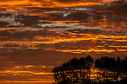 Orange sunrise sky, New Westminster