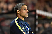 Brighton and Hove Albion manager Chris Hughton during the EFL Cup match between Bournemouth and Brighton and Hove Albion at the Vitality Stadium, Bournemouth, England on 19 September 2017. Photo by Adam Rivers.
