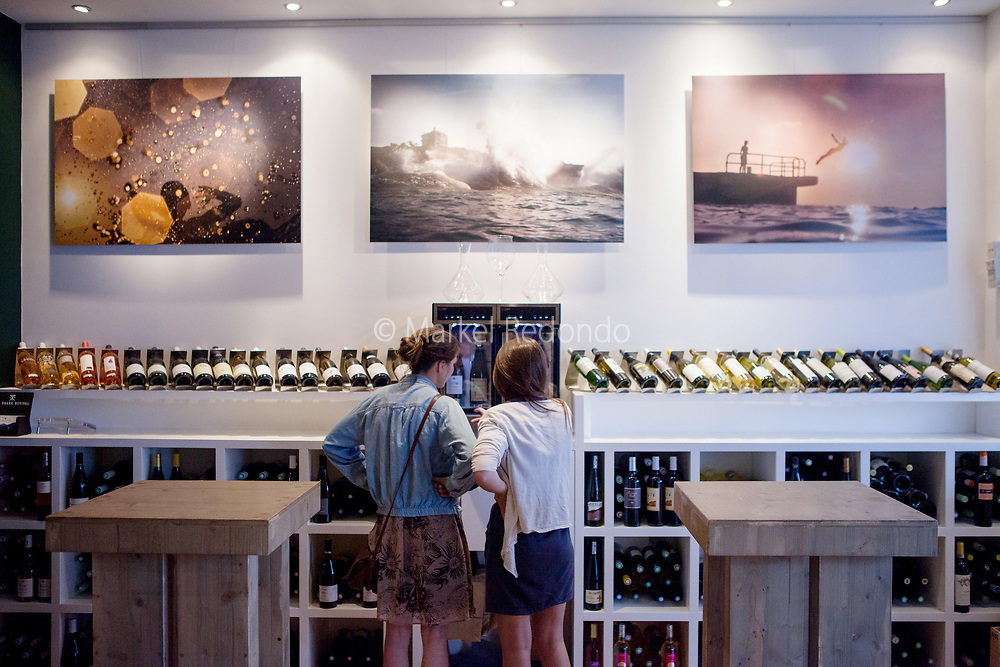 L'Artnoa wine bar in Biarritz, France.