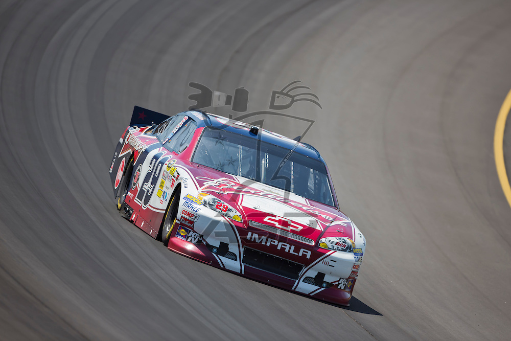 BROOKLYN, MI - JUN 14, 2012:  Kevin Harvick (29) brings his car through the turns during the second test session for the Quicken Loans 400 at the Michigan International Speedway in Brooklyn, MI.