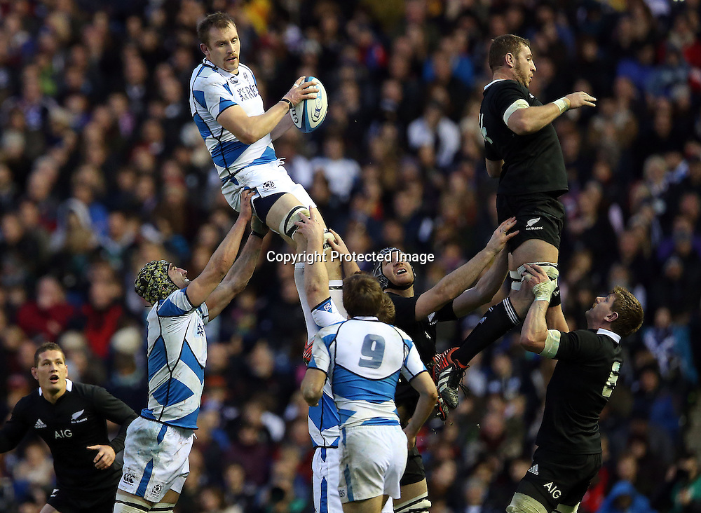 2012 Air New Zealand European Tour 11/11/2012<br /> Scotland vs New Zealand<br /> Alastair Kellock of Scotland , Scotland v New Zealand All Blacks, Murrayfield Stadium, Edinburgh, Scotland, Sunday 11th November 2012.<br /> Mandatory Credit &copy;INPHO/Dan Sheridan