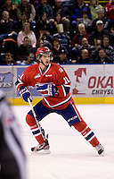 KELOWNA, CANADA, DECEMBER 27: Liam Stewart #11 of the Spokane Chiefs skates on the ice at the Kelowna Rockets on December 7, 2011 at Prospera Place in Kelowna, British Columbia, Canada (Photo by Marissa Baecker/Getty Images) *** Local Caption ***
