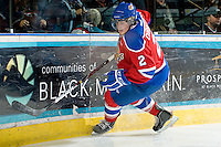 KELOWNA, CANADA - FEBRUARY 15: Cody Corbett #2 of the Edmonton OIl Kings skates on the ice against the Kelowna Rockets on February 15, 2012 at Prospera Place in Kelowna, British Columbia, Canada (Photo by Marissa Baecker/Getty Images) *** Local Caption *** Cody Corbett;