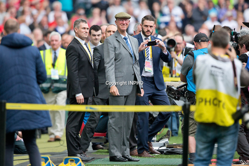 Three International Friendly, Aviva Stadium, Dublin 7/6/2015<br /> Republic of Ireland vs England<br /> Former Ireland manager Jack Charlton before the game<br /> Mandatory Credit &copy;INPHO/Morgan Treacy