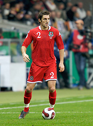 FRANKFURT, GERMANY - Wednesday, November 21, 2007: Wales' Sam Ricketts in action against Germany during the final UEFA Euro 2008 Qualifying Group D match at the Commerzbank Arena. (Pic by David Rawcliffe/Propaganda)