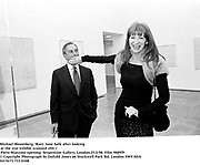 Michael Bloomberg, Mary Jane Salk  (after looking<br />