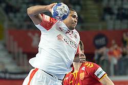 MENSAH LARSEN Mads of Denmark during handball match between National teams of Macedonia and Denmark on Day 7 in Main Round of Men's EHF EURO 2018, on January 24, 2018 in Arena Varazdin, Varazdin, Croatia. Photo by Mario Horvat / Sportida