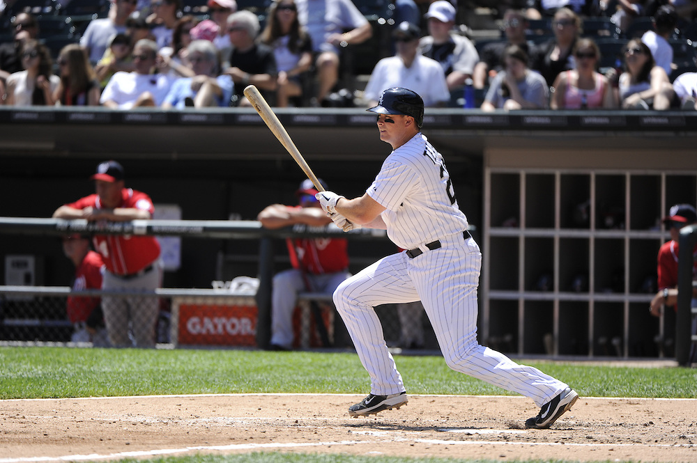 CHICAGO, IL - JUNE 26:  Mark Teahen #23 of the Chicago White Sox bats against the Washington Nationals on June 26, 2011 at U.S. Cellular Field in Chicago, Illinois.  The Nationals defeated the White Sox 2-1.  (Photo by Ron Vesely/MLB Photos via Getty Images)  *** Local Caption *** Mark Teahen