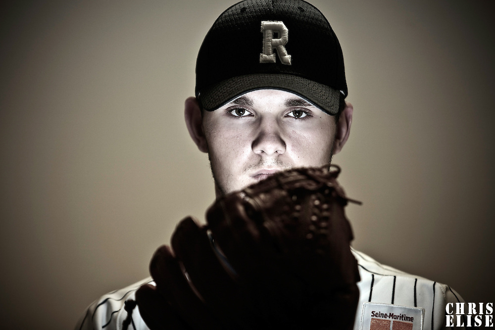 03 June 2010: Portrait of Quentin Becquey during day 2 of the 2010 Baseball European Cup in Brno, Czech Republic. First game is canceled due to a rainout.