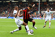 Joshua King (17) of AFC Bournemouth is tackled by Aaron Wan-Bissaka (29) of Crystal Palace during the Premier League match between Bournemouth and Crystal Palace at the Vitality Stadium, Bournemouth, England on 7 April 2018. Picture by Graham Hunt.