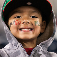 16 March 2009: A young fan of Team Mexico poses during the national anthem prior to the 2009 World Baseball Classic Pool 1 game 3 at Petco Park in San Diego, California, USA. Cuba wins 7-4 over Mexico.
