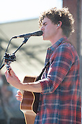 James Keogh of Vance Joy performs during Edgefest 2015 at Toyota Stadium on April 25, 2015 in Dallas, Texas.