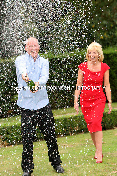 "PIC SHOWS DAVE AND ANGELA DAWES WHO HAVE WON £101 MILLION ON THE EURO LOTTERY COLLECTING THEIR PRIZE AT DOWN HALL COUNTY HOUSE HOTEL,HERTFORDSHIRE,ON TUESDAY AFTERNOON... A factory worker and his wife have won the £101 million EuroMillions jackpot...Dave and Angela Dawes, from Cambridgeshire have scooped the third biggest prize ever won in the UK - after only playing the game THREE times...Dave is a shift supervisor at Prince's canning factory in Wisbech, which produces tinned baked beans, soup and spaghetti...His wife Angela has been a volunteer at the British Heart Foundation shop in Wisbech for the last two years, where she helps two afternoons a week...""We were third time lucky. We didn't believe it, we really didn't. We had to check the numbers several times,"" said Dave at a press conference today (Tues)...Dave, who picked the winning numbers randomly, said they hadn't stopped smiling...""I checked the ticket 50 times during the night. By the time it was drawn the lines were closed so we had to wait until the morning,"" said Angela.."
