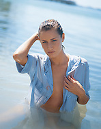 This image was created as an option for the cover of the  Boston Proper Catalog. We shot Silvina in the water of Oleta River, a Florida State Park.