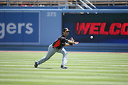 LOS ANGELES, CA - MAY 12:  Steve Cishek #31 of the Miami Marlins plays catch in the outfield before the game against the Los Angeles Dodgers on Sunday, May 12, 2013 at Dodger Stadium in Los Angeles, California. The Dodgers won the game 5-3. (Photo by Paul Spinelli/MLB Photos via Getty Images) *** Local Caption *** Steve Cishek