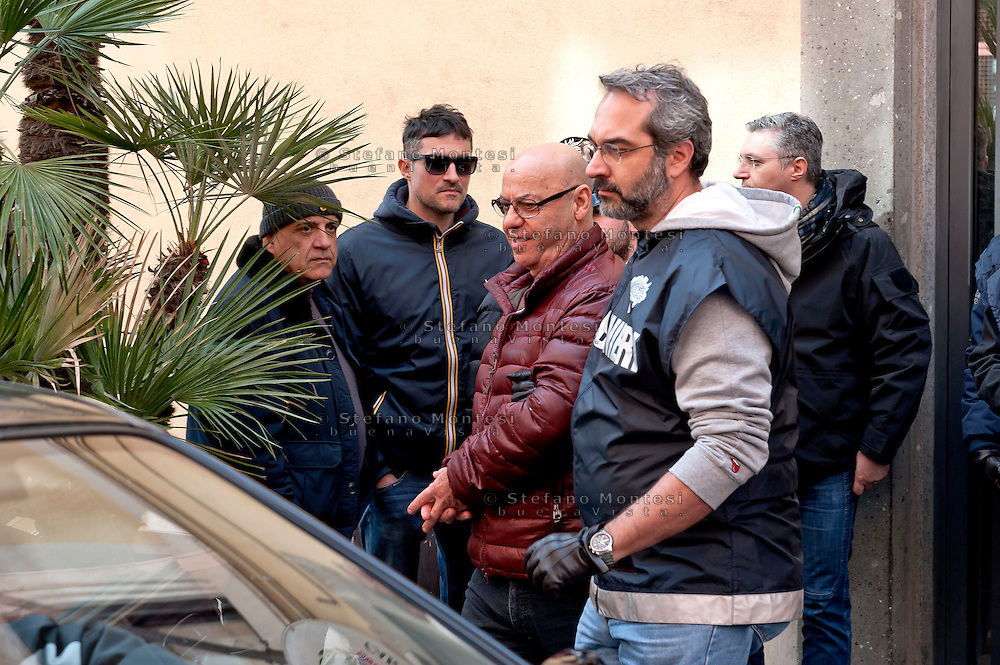 "The arrest of Manlio Vitale , said ""er Gnappa"", former of the Magliana gang<br /> The Carabinieri of the Rome Provincial Command  have arrested 23 people suspected of being part of a group dedicated to robbery in the house.  At the head of the criminal group Manlio Vitale, said ""er Gnappa"", formerly of the Magliana gang. About 200 Carabinieri, with the help of sniffer dogs and a helicopter, they performed arrests, searches and seizures in the entire province of Rome. Rome Italy. 15th March 2016"