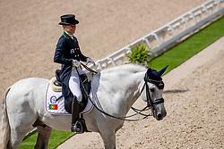 Caetano Maria, POR, Coroado<br /> European Championship Dressage<br /> Rotterdam 2019<br /> © Hippo Foto - Stefan Lafrentz<br /> Caetano Maria, POR, Coroado